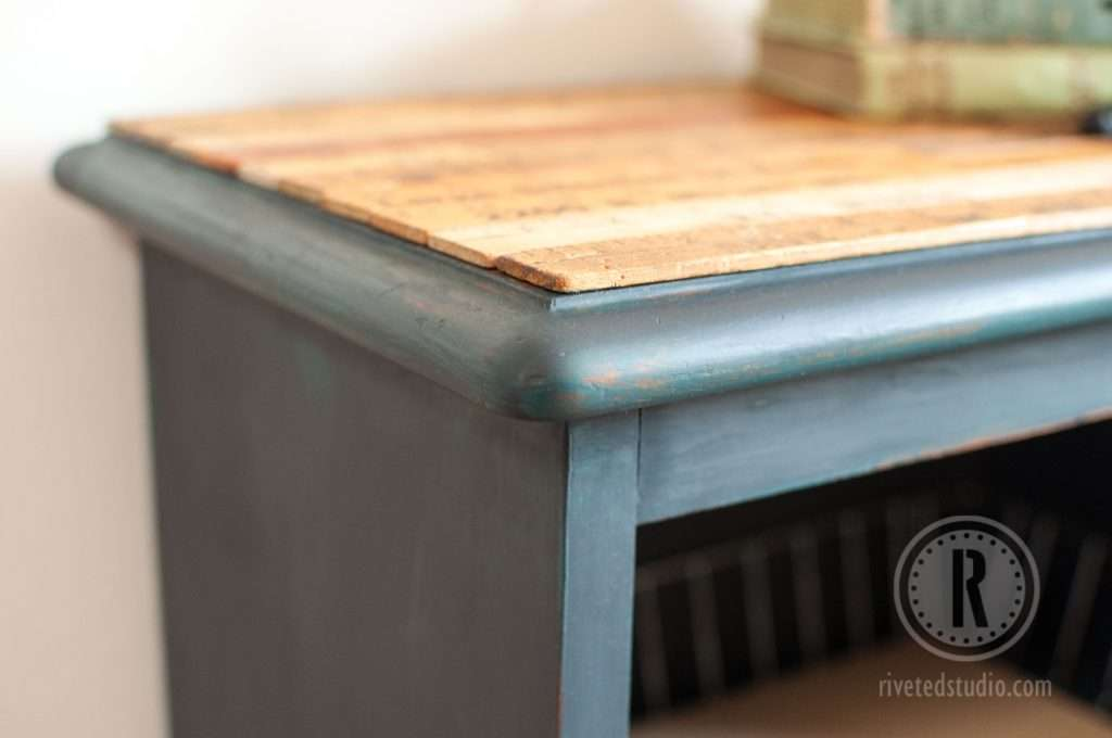 yardsticks and milk paint nightstand Old Fashioned Milk Paint distressing