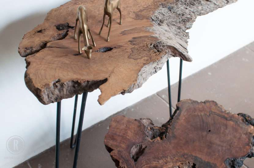 live edge mesquite with hairpin legs