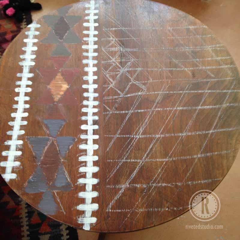 border kilim table OFMP