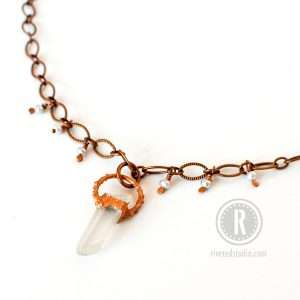 Electroformed Crystal Necklace
