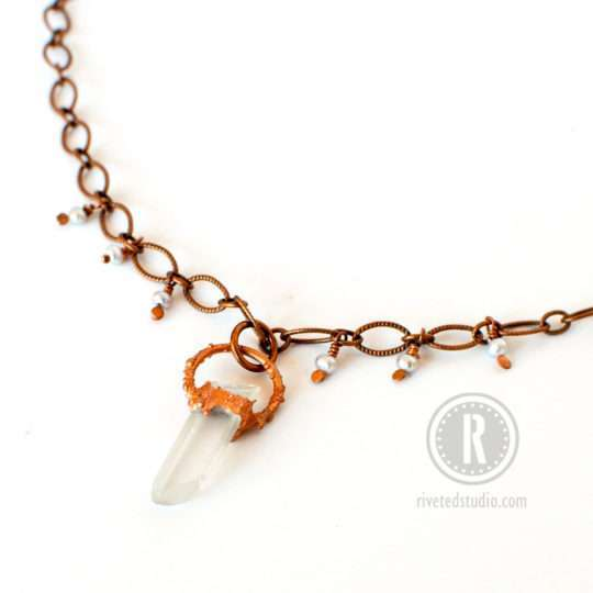 short-crystal-necklace-electroformed