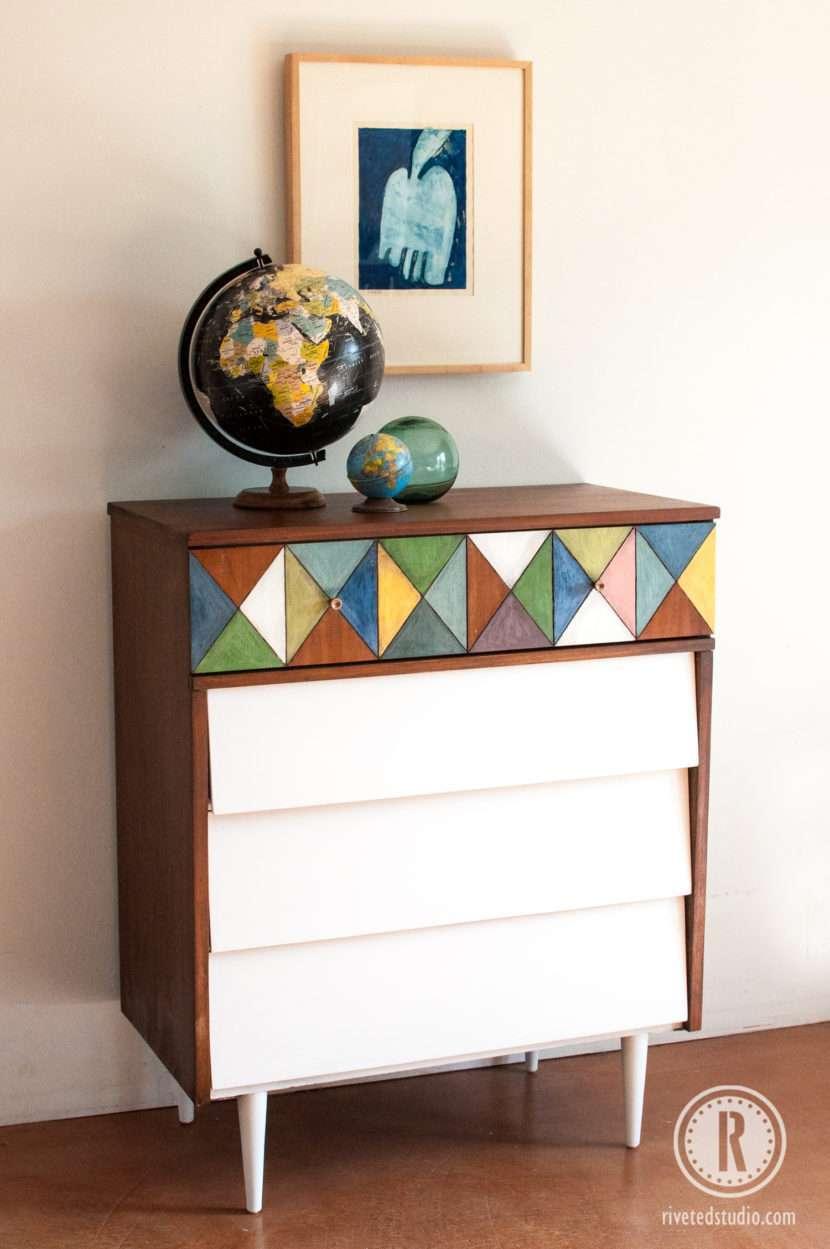MCM Geometric dresser with Globe