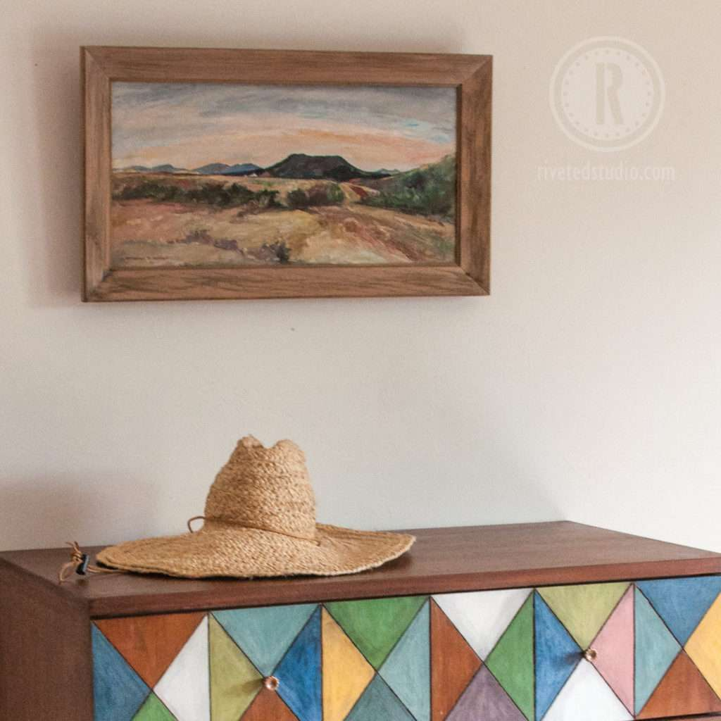 MCM Geometric with desert painting OFMP
