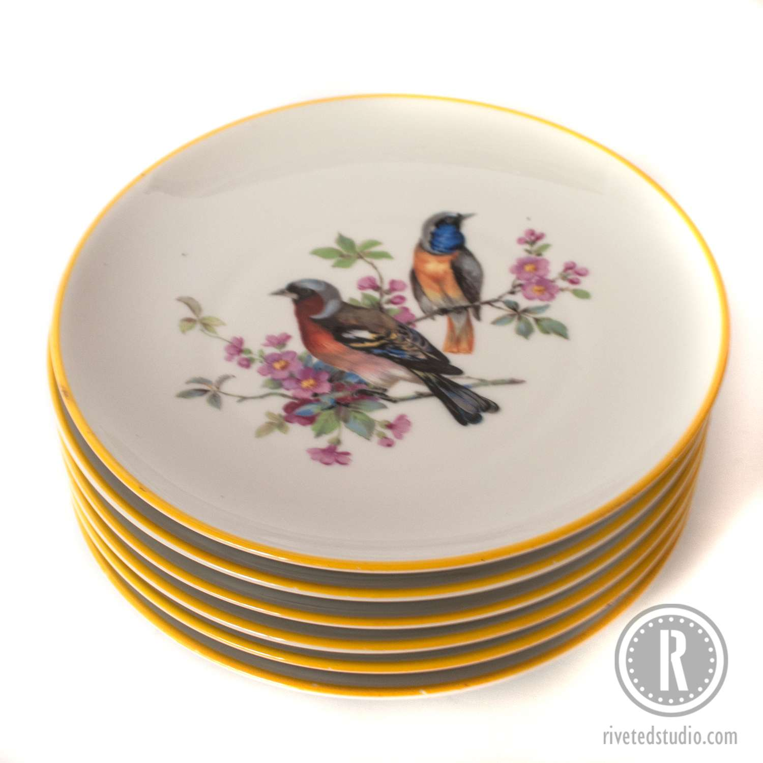 Stack of bird plates