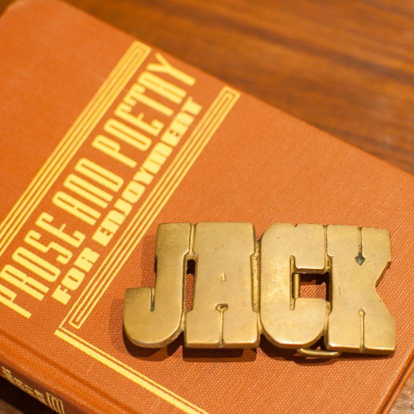 jack brass belt buckle