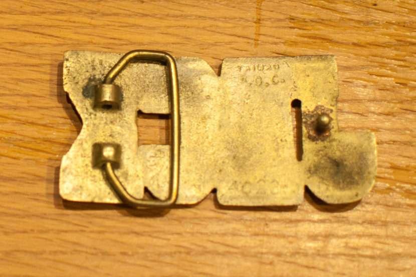 back of jack brass belt buckle