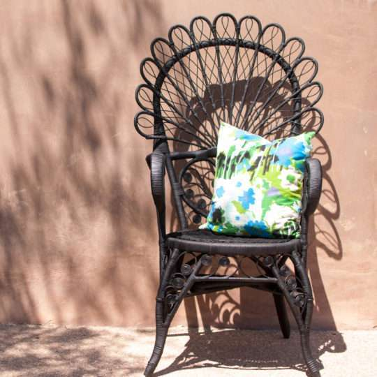 peacock chair at Riveted